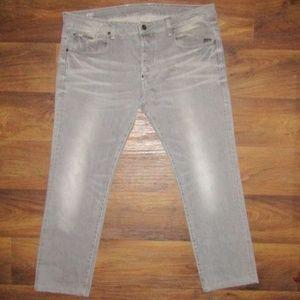 G Star Attacc Straight Grey Jeans Sz 40 Denim